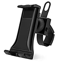 "AccessoryBasics Universal Smartphone Tablet iPad iPhone Indoor Gym Bicycle Treadmill Exercise Bike Handle Bar Mount Holder for iPhone X 8 Plus ipad Mini Air Pro Galaxy S8 Note &all 5-12"" screen device"