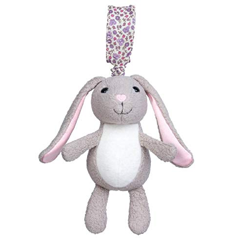 Apple Park Organic Cotton Stroller Toy Bunny ()