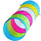 6-foot Peek-a-Boo Kids Play Tunnel, Indoor & Outdoor Pop up Child Crawling Tunnel Toy Tube, by Hide-n-Side