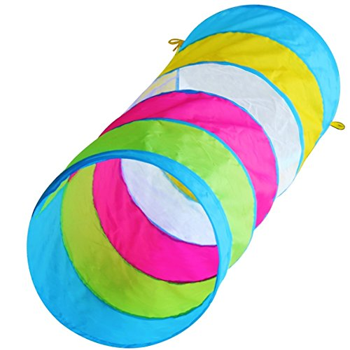Hide N Side Kids 6ft Crawl Through Play Tunnel Toy, Pop up Tunnel for Kids Toddlers Babies Infants & Children Gift Indoor & Outdoor - Tunnel Rainbow