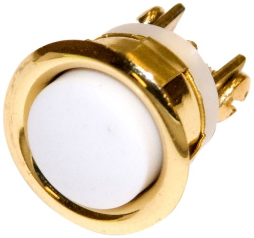 ACT D'MAND KONTROLS System HWB-G-S Button Round White Center with Gold Ring and Momentary Contact (Dmand System)