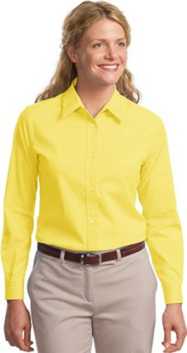 Yellow Port (Port Authority Women's Port Authority Ladies Long Sleeve Easy Care XL Yellow)