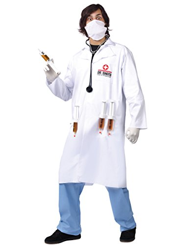 Fun World Men's Dr. Shots, Multi 4, (Dr Girlfriend Costume For Sale)