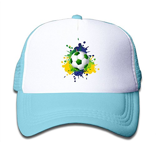 Black Mesh Baseball Cap Adjustable Kids Hats Rainbow Star Football Unisex