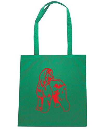 T-Shirtshock - Bolsa para la compra FUN1240 dog breed decal 01 39012 Verde