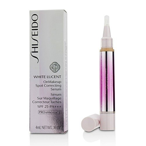Shiseido White Lucent On Makeup Spot Correcting Serum SPF 15, Medium, 0.16 Ounce -