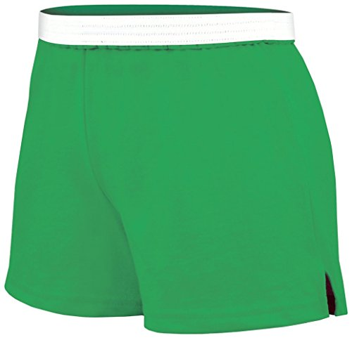 Soffe Athletic Cheer Shorts, Deep Mint, X-Small