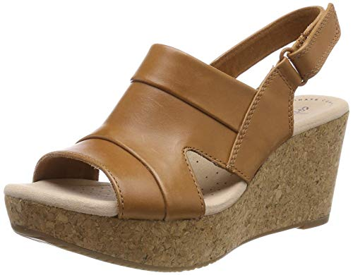 Clarks Women Annadel Ivory Leather Fashion Sandals