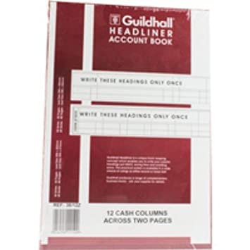 298x203mm Guildhall Headliner Book GH3810 38//10 - 80 Pages