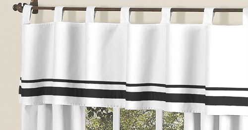 White and Black Hotel Modern Window Valance