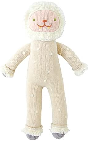 Blabla Flurry die Yeti Plush Doll - Knit Stuffed Animal für Kids. Cute, Cuddly & Soft Cotton Toy. Perfect, Forever Cherished. Eco-Friendly. Certified Safe & Non-Toxic.