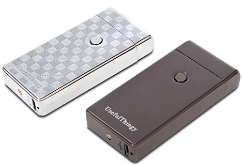 USB Lighters 2 Pack - Dual Arc Electronic Lighter Electric Plasma Lighter - Tesla Coil Rechargeable Cigarette Lighter 5 Designs