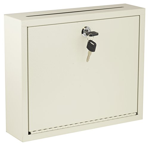 AdirOffice Multi Purpose, Mail Box, Drop Box, Suggestion Box, Wall Mountable, 3 x 10 x 12 - Sand Beige