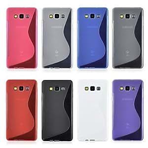 WQQ Teléfono Móvil Samsung - Cobertor Posterior - Color Sólido - para Samsung Galaxia A5 ( Negro/Blanco/Rojo/Azul/Rosado/Gris/Púrpura , TPU ) , Transparent