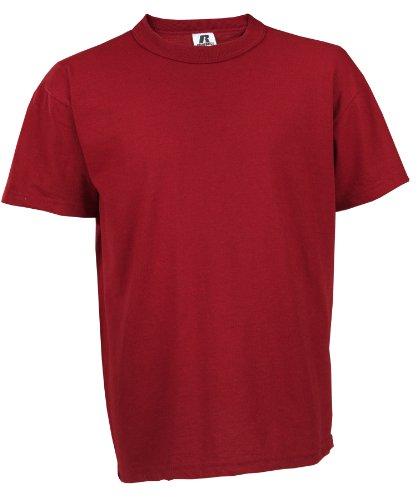 Russell Big Boys' Youth NuBlend T-Shirt, Cardinal, Small