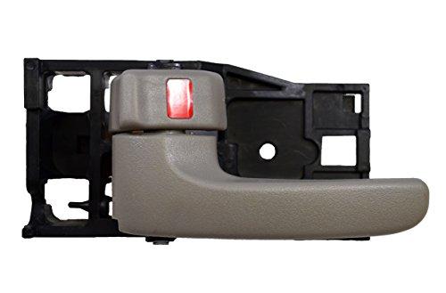 Gray Interior Door Handle Driver - PT Auto Warehouse TO-2901G-LH - Inside Interior Inner Door Handle, Gray (Charcoal) - Driver Side