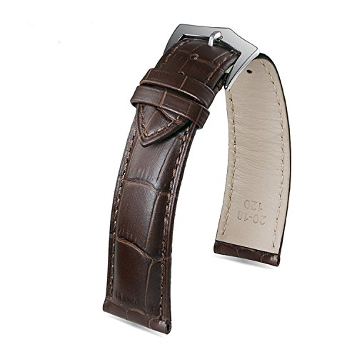 20mm-deluxe-deep-brown-leather-wrist-watch-belts-for-men-rectangular-scales-italian-leather-pin-buck