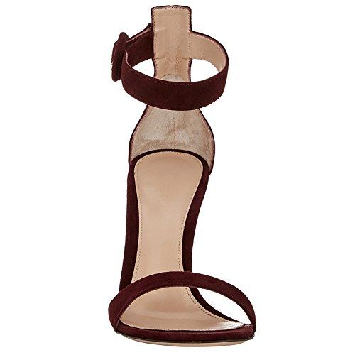 Vinaccia Caviglia Con Scarpe Cinturino Alla Kolnoo Donna wnaqYIOg