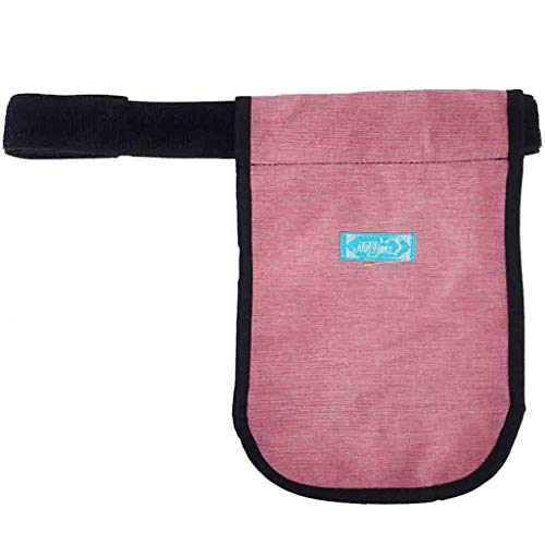 Hcwlxjy Urinary Collection Bag Incontinence Kit Urinary Drainage Catheter Bag Ostomy Bag Holder Elderly Drainage Bag Care Package for Home,Travel,Wheelchair,Bed,Pink,1500ml