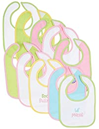 Neat Solutions Nojo Making Miracle Water Resistant Drooler Bib, Girl/Styles May Vary, 10 Count