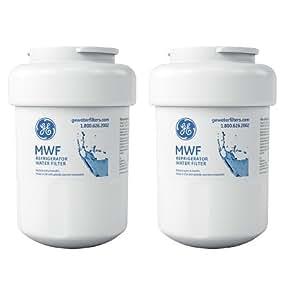 GE SmartWater MWF Refrigerator Water Filter, 2-Pack