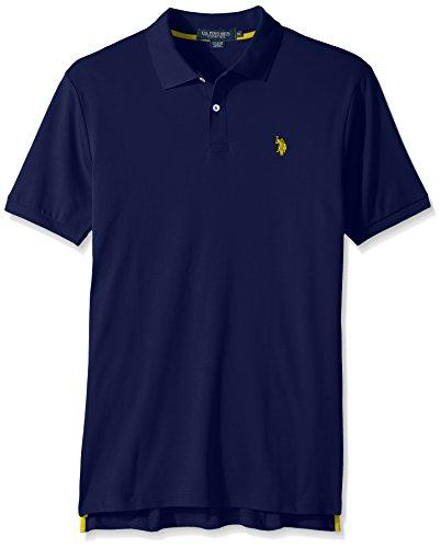 U.S. Polo Assn. Men's Solid Interlock Short-Sleeve Polo Shirt, Dodger Blue-3045, Medium