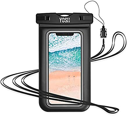 YOSH Waterproof Case, Lifetime Warranty, Universal Sealed Underwater Dry  Bag Pouch for iPhone 6/6s/7/8/X, Samsung Galaxy S7/S8/S9/J3/J5/J7, Huawei  and