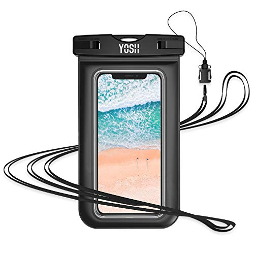 YOSH Waterproof Phone Pouch Waterproof Phone Case Cell Phone Dry Bag Underwater Phone Pouch Waterproof Case Compatible with iPhone XR XS X 8 7 6 6S Plus Samsung Galaxy S9 S8 S7 Pixel 3 2 up to 6.1""