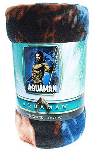 DC Aquaman Deep Waters Cozy Fleece Throw The Northwest Company
