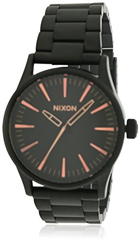 Nixon-Sentry-38-SS-Watch-All-Black-Rose-Gold