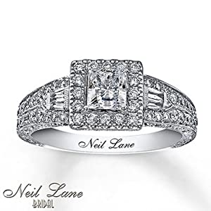 Neil Lane Neil Lane Engagement Ring 1 Ct Tw Diamonds 14K White Gold
