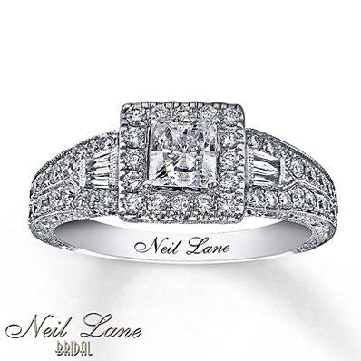 neil lane neil lane engagement ring 1 ct tw diamonds 14k white gold - Neil Lane Wedding Ring