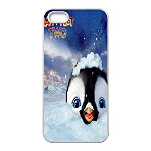 Custom Happy Feet Back Cover Case for iphone5,5S by runtopwell