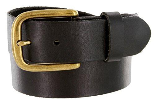 Men's Full Grain Leather Casual Jean Belt 1-1/2