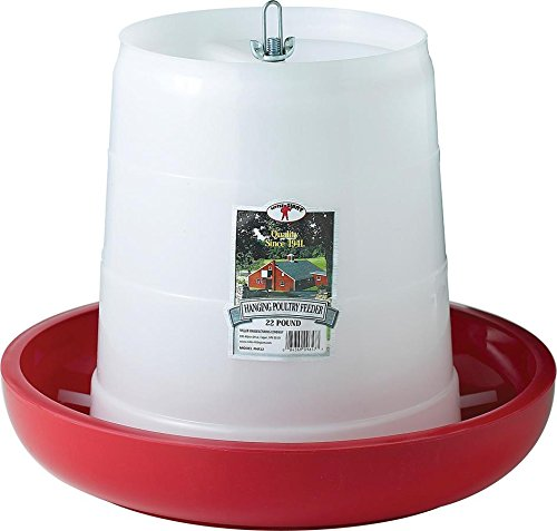 Miller Manufacturing PHF22 22-Pound Plastic Hanging Feeder, Red
