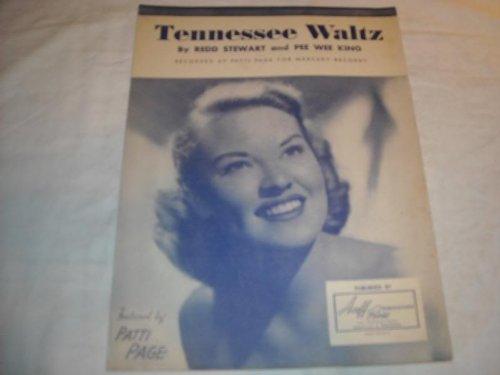 TENNESSEE WALTZ PATTI PAGE 1948 SHEET MUSIC SHEET MUSIC 235