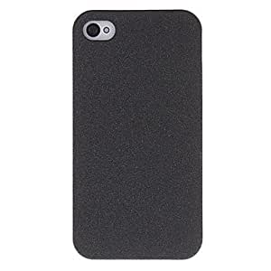 Solid Color Quicksand Hard Case for iPhone 4/4S (Assorted Colors) --- COLOR:Black