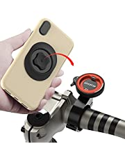 Motorcycle Bicycle Phone Mount,Universal Mountain Bike Handlebar Cell phone Holder Aluminum Metal Quick Mount Cycling Bracket for MTB ATV Scooter GPS Navigation,Stand For iPhone 12 Samsung Google