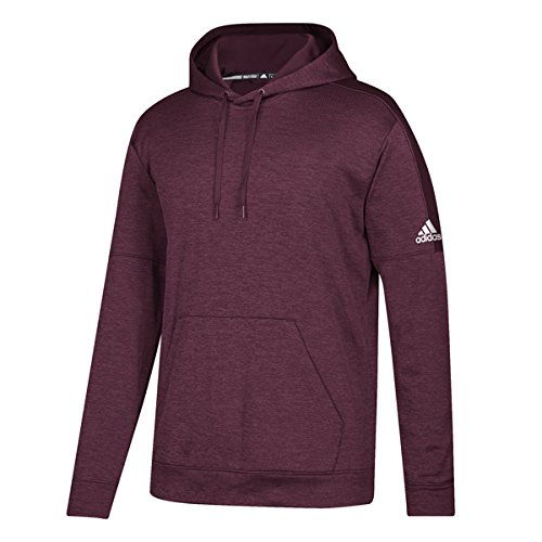 White Team Issue - adidas Men's Athletics Team Issue Pullover, Maroon Melange/White, XX-Large