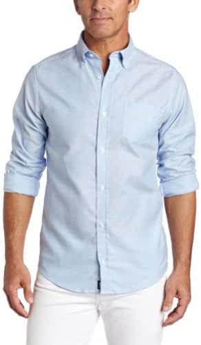Lee - Young Mens Long Sleeve Oxford Shirt, Light Blue 34354-Medium