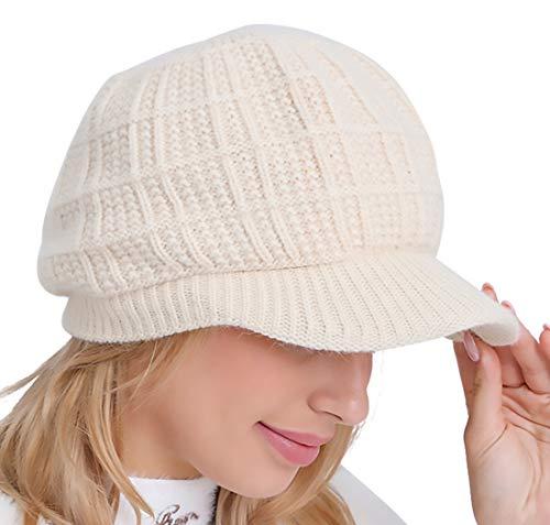 PanPacSight Women Knit Visor Winter Newsboy Hat Cap Cable Slouchy Beanie Skull