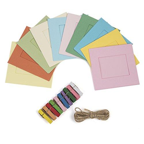 Kodak Square Photo Frames - Colorful 2x3 Frames Includes Classic Camera Frames, Magnetic Clothespins & String 8 Pack (Printomatic, Mini Shot, Mini2)