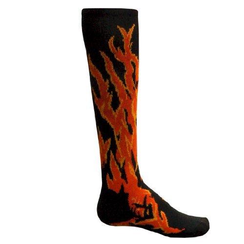 Red Lion Flame Performance Socks ( Black - Medium )