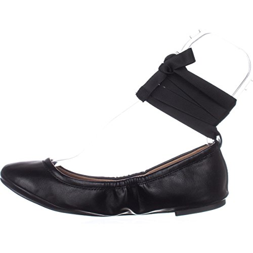 Chiamalo Spring Conboy Tie Up Ballet Flats - Nero