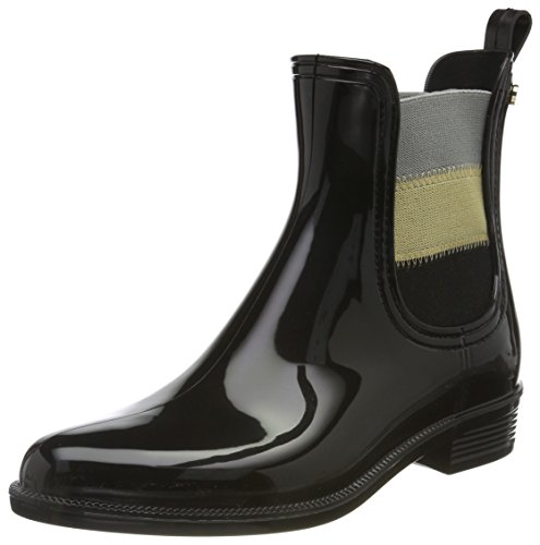 Tommy O1285dette Black 16v2 Hilfiger Boots Women''s Wellington 44wUPxrqZH