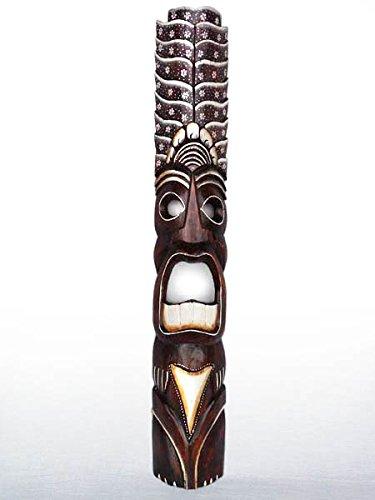 Un medidor de altura africano Totem máscara. Comercio justo. Para colgar en la pared