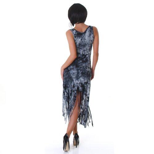 Unbekannt - Vestido - Falda con peto - Efecto teñido - Sin mangas - para mujer negro