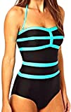 Bikifree Fashion Women Vintage Bikini One Piece Fashion Halter Swimsuit BlackLarge
