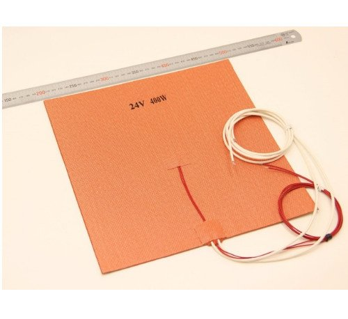 WillBest 30X30CM12V/24V 400W Silicone Heater Huge Size 300x300mm for Reprap 3D Printer Heated Bed Pad with 3M NTC 3950 Thermistor by WillBest