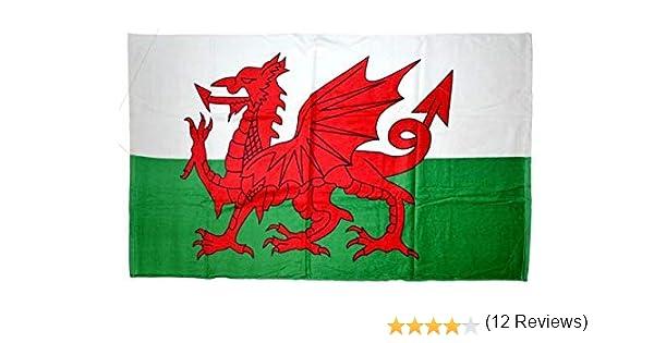 Toalla de Playa de Gales de Bandera de Gales: Amazon.es: Jardín